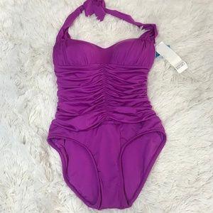 NWT Badgley Mischka One Piece Bathing Suit Size 6